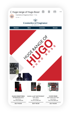 Marsello Cosmetics and Fragrance Direct One Off Email Campaign Example