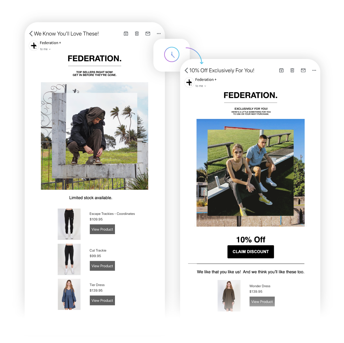 Federation + best customer email automation flow with 10% discount