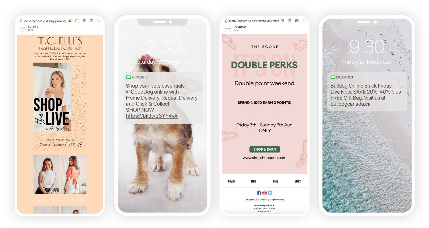 Drive Sales with Email and SMS Campaigns