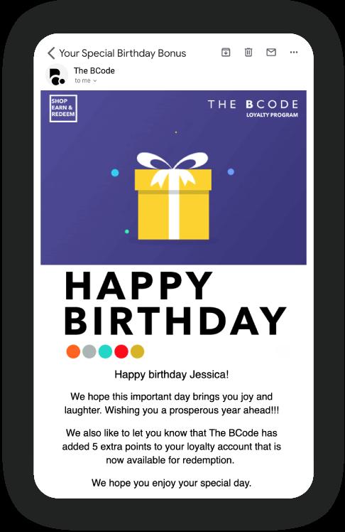Build loyal relationships on customers' birthdays