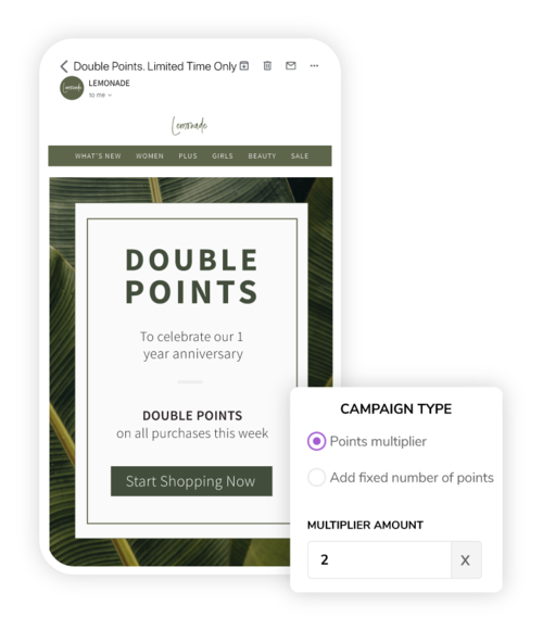 Drive sales with points promotions